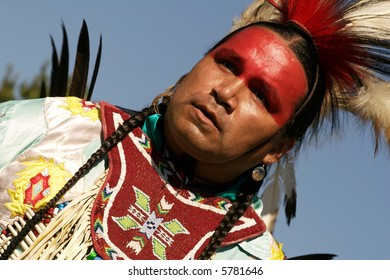 Native American dancer at 2007 Mahkato Wacipi Pow Wow in Mankato, Minnesota