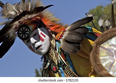 Native American dancer at 2007 Mahkato Wacipi Pow Wow in Mankato