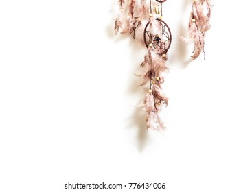 Native American dream catcher isolated on white background