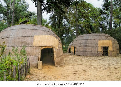 Native American Hut Replicas Jamestown Virginia