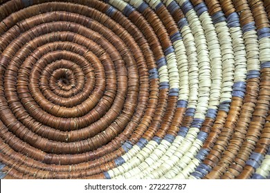 Native American Indian Basket Weaving Detail