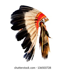 Native American Indian Chief Headdress Mascot Tribal