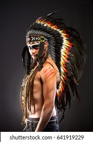 Native American Indian Chief War Bonner Headdress
