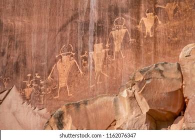 Native American Indian Petroglyphs Capitol Reef National Park Torrey Utah