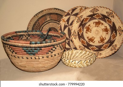 Native American Indian woven baskets make beautiful decor