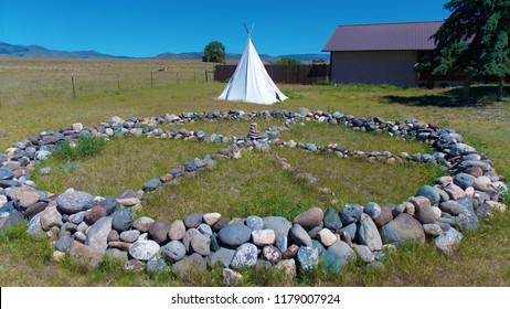 Native American Medicine Wheel and Teepee