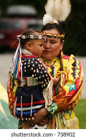 Native American mother & child