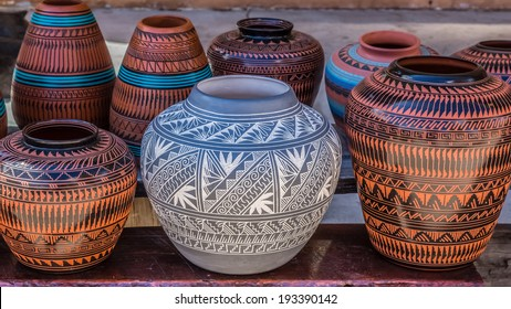 Native American pottery, Santa Fe, New Mexico