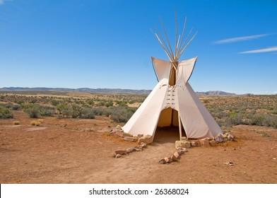 a native american tee pee dwelling