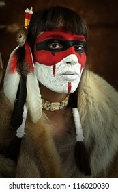 Native American Face Paint Images Stock Photos Vectors Shutterstock