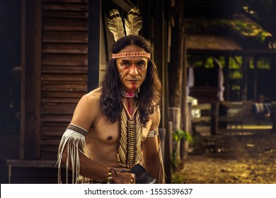 native Americans.portrait of Americans Indian man.