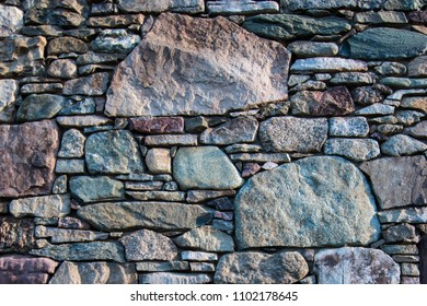 Native green basalt stone formed in Piscean Age used in building foundation for old home