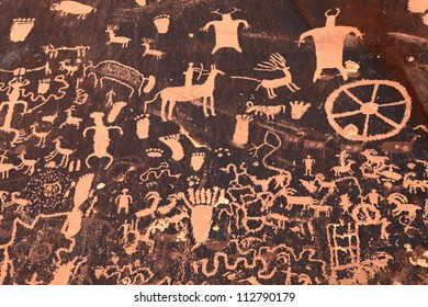 Native Indian petroglyphs, Moab, Utah