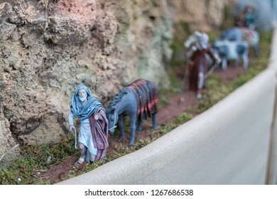Nativity scene: blue shepherd.