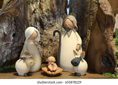 nativity scene with the Holy Family and the baby Jesus