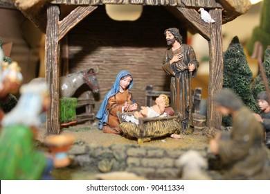 Nativity scene really close