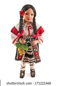 Фотообои natsionatsiolnoy dolls clothes on a white background