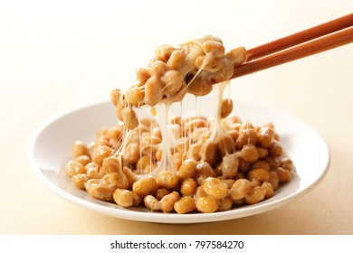 Natto Japanese fermented soybeans