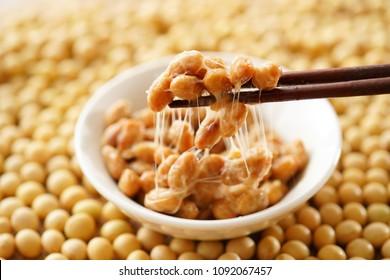 Natto. Japanese food.