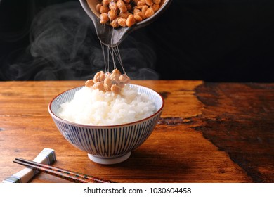 Natto of Japanese traditional health food