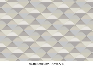 Natual Brown and Blue Pastel Colored Triangle Background with Three Dimensional Effect