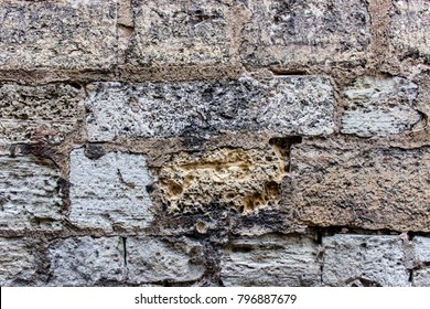 Natual stone material wall texture.