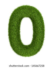 Natural 3d isolated photo realistic grass number 0
