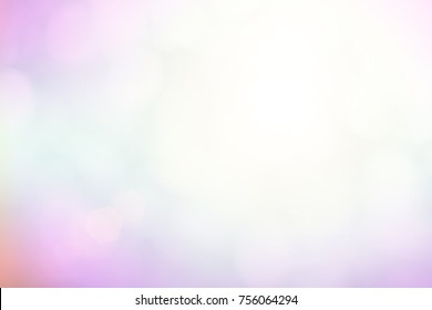 Natural abstract blurred background create light soft colors and bright sunshine a short time before sunset.