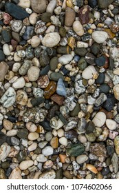 Natural abstract colorful pebbles background