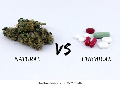Natural against chemical. Medical cannabis faced with science.