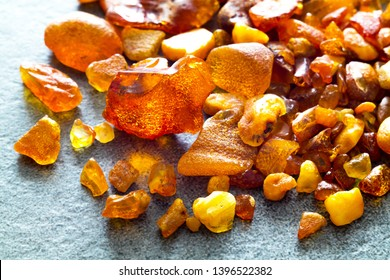 Natural amber found on the beaches of the Baltic Sea