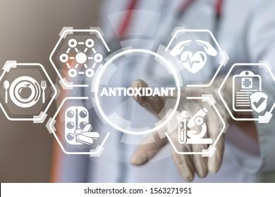 Natural Antioxidants Nutrition Diet Treatment Medical Innovative Concept.
