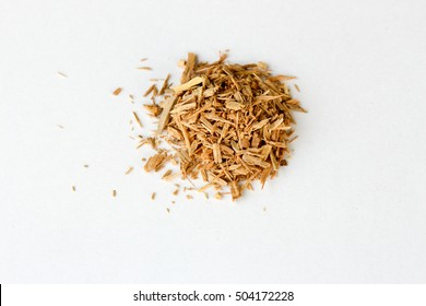 Natural aromatic incense sandalwood isolated on a white background