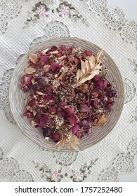 natural arrangement of dried flowers