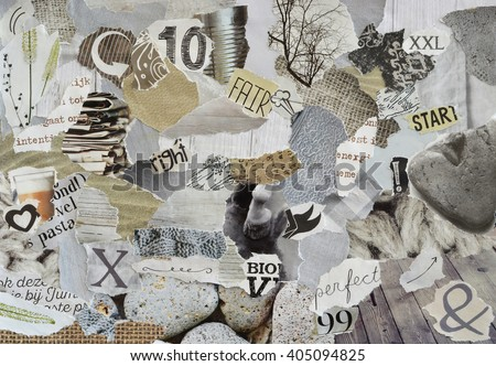 Natural Atmosphere Mood Board Collage Sheet Stock Photo Edit Now