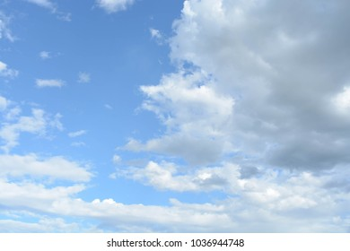 Natural background, blue sky clouds