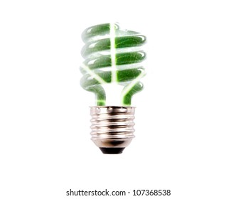 natural background bulb isolated on white background