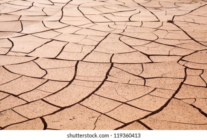 Natural background of cracked earth