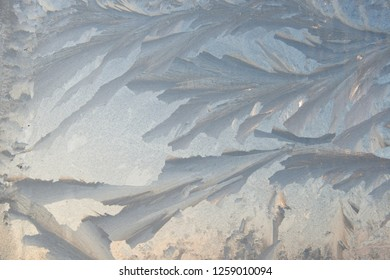 the natural background - frost patterns on glass