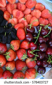 Natural background, fruits and berries