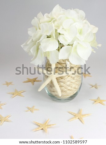 Natural Beach Wedding Centerpiece Made Rope Stock Photo Edit Now