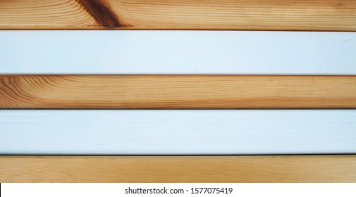 Natural & beautiful wood, with painted white wood - horizontal stripes as a background texture for design, and room for text / words.
