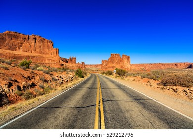 The natural beauty of Arches National Park in Utah.