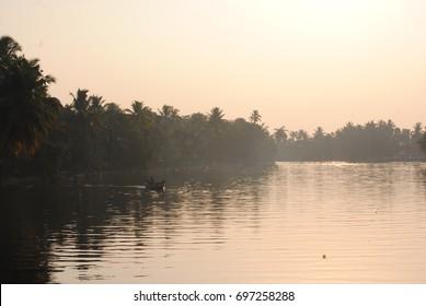 the natural beauty of backwater Ker ala