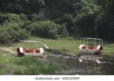 natural beauty of boga lake, bangladesh, 4 april 2018