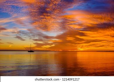 The natural beauty of the Florida Keys at sunset.