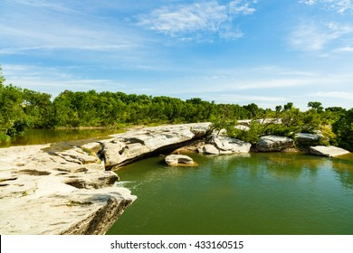 The natural beauty of the McKinney Falls in Austin Texas.