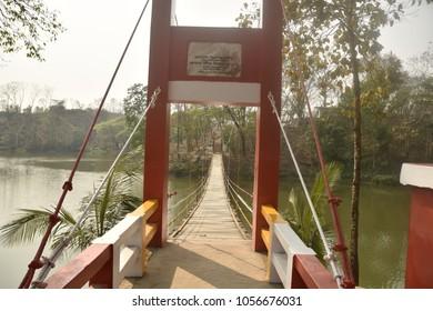 natural beauty of meghla-hanging bridge, bandarban, Bangladesh, 29 march 2018