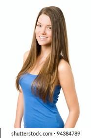 Natural beauty young woman smiling at camera