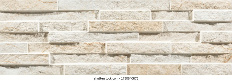 Natural beige elevation stone tile design